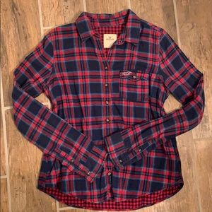 Hollister plaid flannel long sleeve